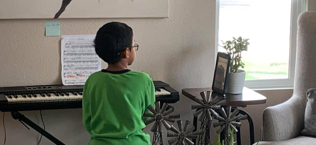 Zoom piano lessons for children
